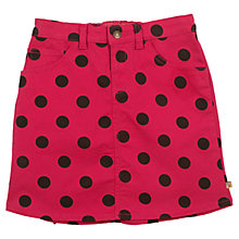 Buy Frugi Girls' Spot Anna Skirt, Pink/Black Online at johnlewis.com