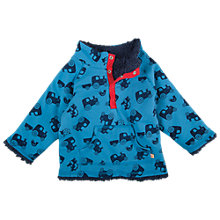 Buy Frugi Baby's Reversible Tractor Fleece, Blue Online at johnlewis.com