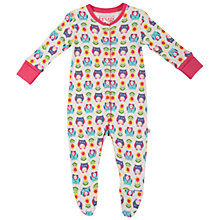 Buy Frugi Baby Repeat Owl Print Sleepsuit, Multi Online at johnlewis.com