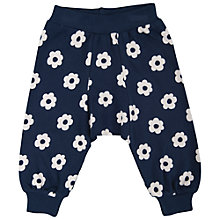 Buy Frugi Flower Print Harem Trousers, Navy/White Online at johnlewis.com