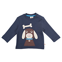 Buy Frugi Baby Dog and Bone Disovery Top, Navy Online at johnlewis.com