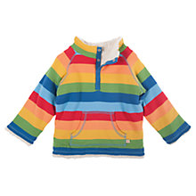Buy Frugi Baby Rainbow Reversible Fleece, Multi Online at johnlewis.com