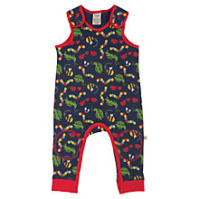Buy Frugi Baby Bug Dungarees, Navy/Red Online at johnlewis.com