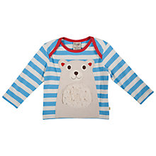Buy Frugi Baby Bobby Polar Bear Top, Blue/White Online at johnlewis.com