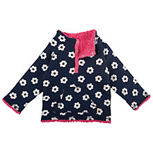 Buy Frugi Reversible Flower Print Fleece, Navy/Pink Online at johnlewis.com