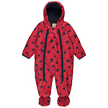 Buy Frugi Baby Star Print Snowsuit, Red Online at johnlewis.com