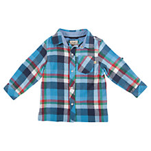 Buy Frugi Baby Sam Check Shirt, Blue/Multi Online at johnlewis.com