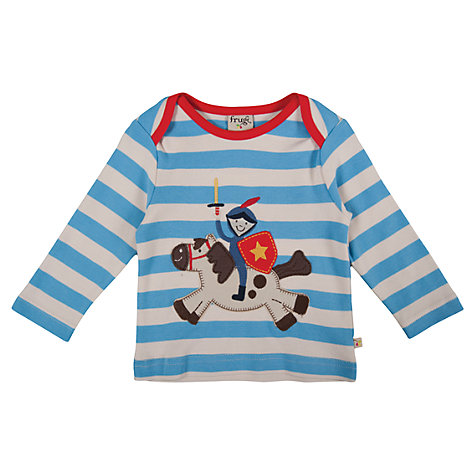 Buy Frugi Baby Stripe Knight Top, Blue/White Online at johnlewis.com