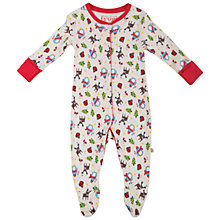 Buy Frugi Baby Lovely Babygrow, White/Multi Online at johnlewis.com