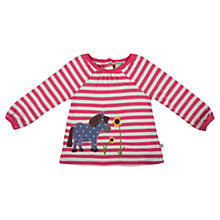Buy Frugi Baby Ella Stripe Pony Top, Pink/White Online at johnlewis.com