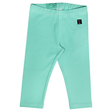 Buy Polarn O. Pyret Girls' Three-Quarter Length Leggings, Turquoise Online at johnlewis.com