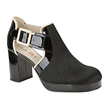 Buy Clarks Orla Kiely Dilly Leather Shoe Boots, Black Online at johnlewis.com