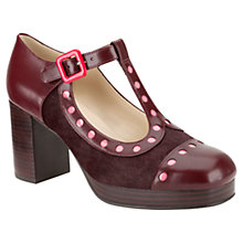 Buy Clarks Orla Kiely Dotty Leather Mary-Jane Court Shoes, Oxblood Online at johnlewis.com