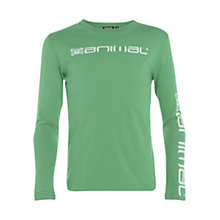 Buy Animal Boys' Bolted Long Sleeve T-Shirt, Green Online at johnlewis.com