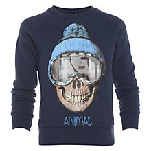 Buy Animal Boys' Bizatch Crew Neck Sweatshirt, Navy Online at johnlewis.com