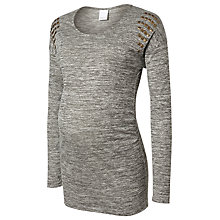 Buy Mamalicious Tara Stud Detail Jersey Maternity Top, Grey Online at johnlewis.com