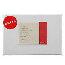 Buy John Lewis Egyptian Cotton 200 Thread Count Pillowcases, Pack of 2 Online at johnlewis.com