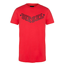 Buy Diesel Graphic Logo Crew Neck T-Shirt Online at johnlewis.com