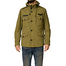 Buy Diesel W-Tapi Double Layer Jacket, Khaki Green Online at johnlewis.com