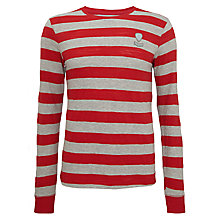 Buy Diesel Colty Striped Cotton Sweatshirt, Grey / Red Online at johnlewis.com