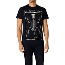 Buy Diesel Agid Bone Print T-Shirt, Black Online at johnlewis.com