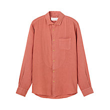 Buy Jigsaw Garment Dye Cotton Long Sleeve Shirt, Coral Online at johnlewis.com