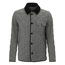 Buy Gant Wool Quilted Jacket, Grey Online at johnlewis.com