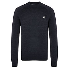 Buy Fred Perry Tipped Sports Sweatshirt, Vintage Navy Marl Online at johnlewis.com