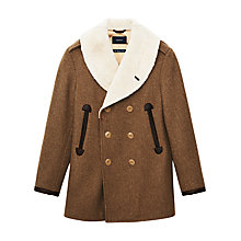 Buy Gant Spectator Double Breasted Wool Coat, Brown Online at johnlewis.com