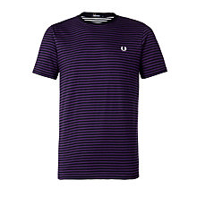 Buy Fred Perry Sharp Stripe T-Shirt, Navy Online at johnlewis.com