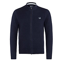 Buy Fred Perry Pique Cardigan, Navy Online at johnlewis.com