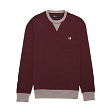 Buy Fred Perry Fine Tipped Crew Neck Sweater Online at johnlewis.com