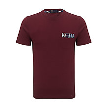 Buy Fred Perry Check Collar T-Shirt, Port Online at johnlewis.com