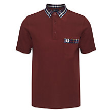 Buy Fred Perry Check Print Collar and Pocket Polo Shirt Online at johnlewis.com