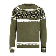 Buy Diesel K-Arsha Argyle Jumper, Green Online at johnlewis.com
