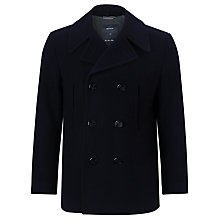 Buy Gant Port Wool Peacoat, Deep Blue Sea Online at johnlewis.com
