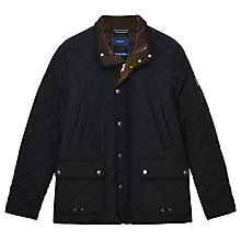 Buy Gant Cosy Quilter Jacket, Black Online at johnlewis.com