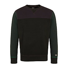Buy Diesel S-Anele Felper Panelled Sweatshirt, Black/Multi Online at johnlewis.com
