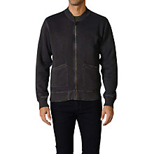 Buy Diesel Saddiko Felper Jersey Bomber Jacket, Black Online at johnlewis.com