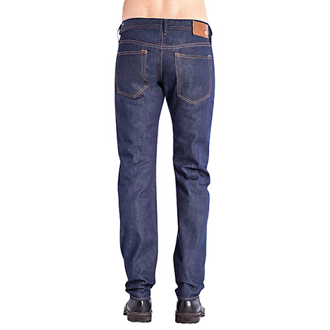 Buy Diesel Buster Selvedge Slim Tapered Jeans, Dark Wash Online at johnlewis.com