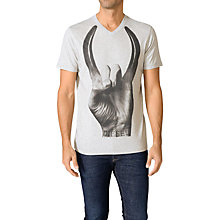 Buy Diesel Maglietta Rock Hand Print Cotton T-Shirt, Grey Online at johnlewis.com