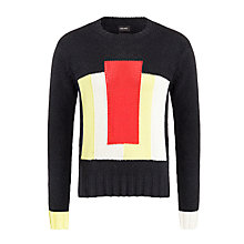 Buy Diesel K-Echu Colour Block Jumper, Black Online at johnlewis.com