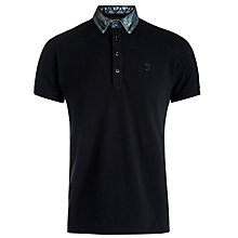 Buy Diesel Afua Denim Collar Polo Shirt, Black Online at johnlewis.com