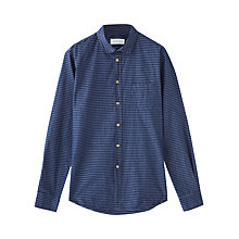 Buy Jigsaw Stripe Cotton Long Sleeve Shirt, Indigo Online at johnlewis.com
