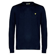 Buy Lyle & Scott Tartan Elbow Patch Crew Neck Jumper Online at johnlewis.com