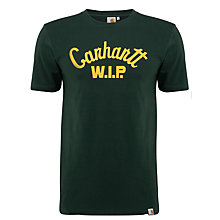 Buy Carhartt Scripted W.I.P. T-Shirt, Green Online at johnlewis.com