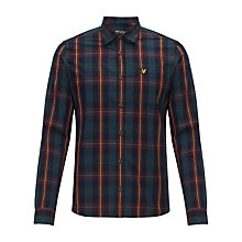 Buy Lyle & Scott Tartan Long Sleeve Shirt, New Navy Online at johnlewis.com