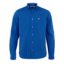 Buy Lyle & Scott Check Long Sleeve Shirt, New Navy Online at johnlewis.com