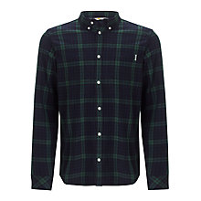 Buy Carhartt Bell Check Long Sleeve Shirt, Green/Blue Online at johnlewis.com