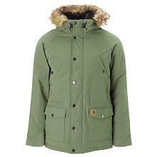 Buy Carhartt Trapp Parka Coat, Glade Green Online at johnlewis.com